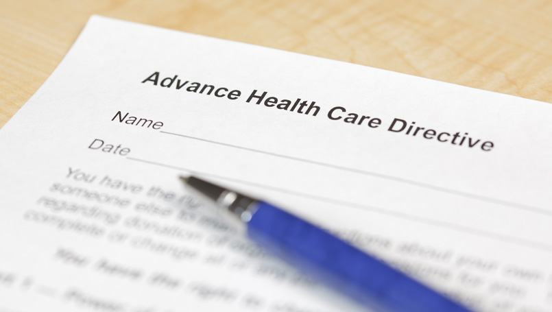 Advance Health Care Directive form image