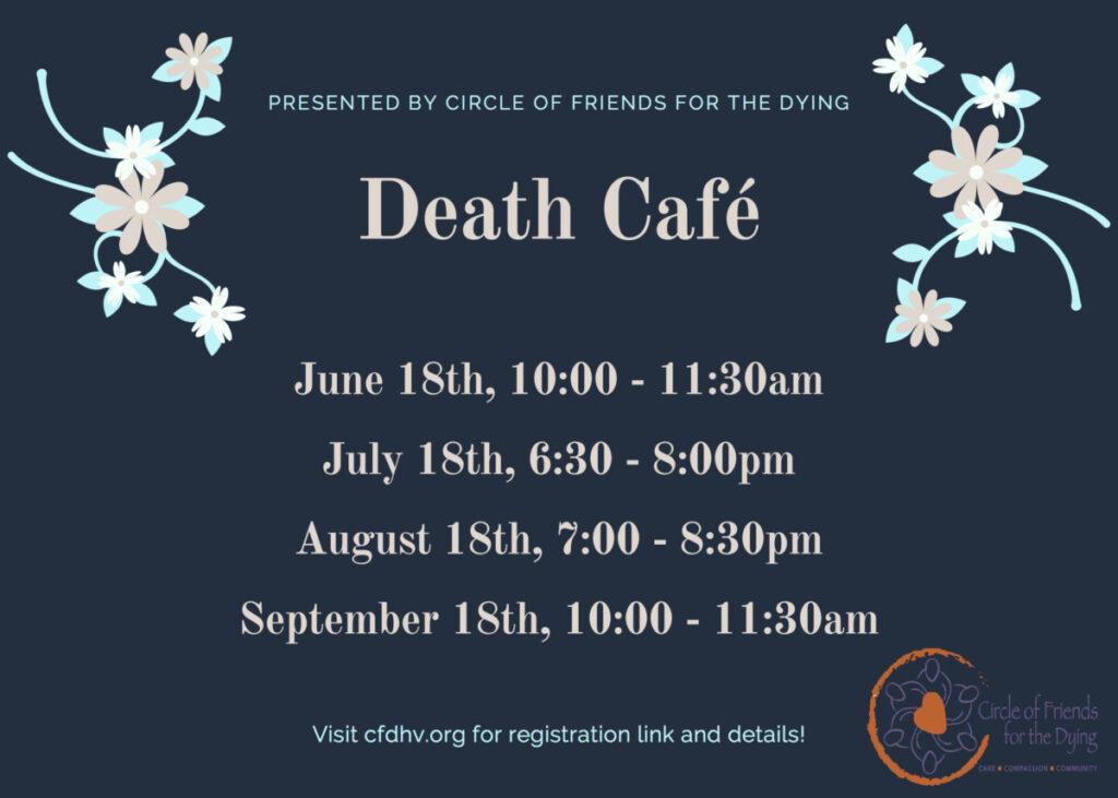 September 18 Death Cafe 10 am